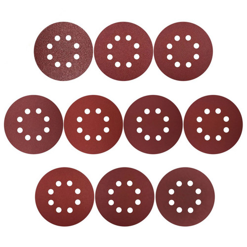 "Hurricane 5"" Hook & Loop 8 Hole Sanding Discs, 50 Discs Assortment"
