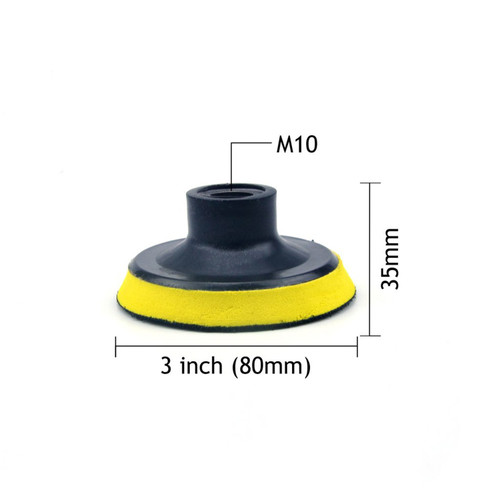 """Hurricane 3"""" Backer Pad, M10 with 6.35mm Shank Mount"""