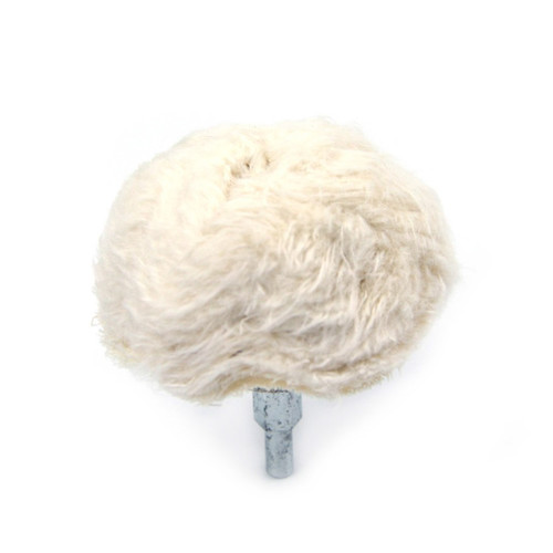 Hurricane Medium Mushroom shape Cotton Buffing Wheels with Mounted Shank
