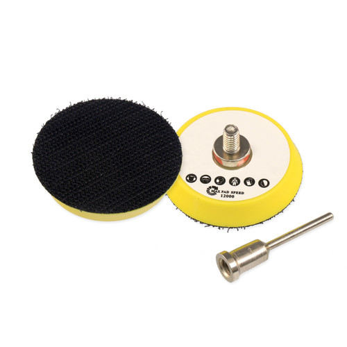 """Hurricane 2"""" Hook and Loop Backer Pad with 3mm Shaft Mount"""