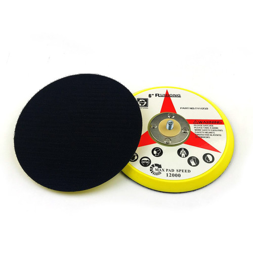 """Hurricane 6"""" Hook and Loop Backer Pad with 6mm Shaft Mount"""
