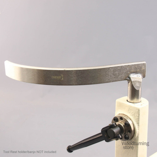 """Oneway Curved Tool Rest, 1"""" Diameter Standard Post"""