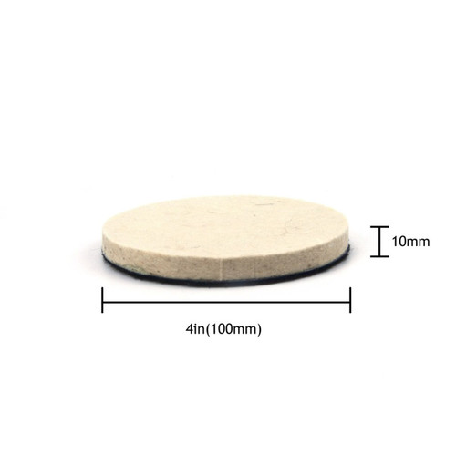 "Hurricane 4"" Felt Buffing and Polishing Pad"
