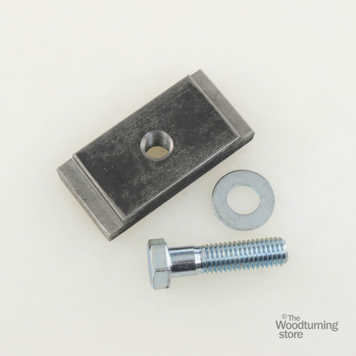 """Oneway Clamp Block for 2 1/2"""" Gap in Lathe Bed"""