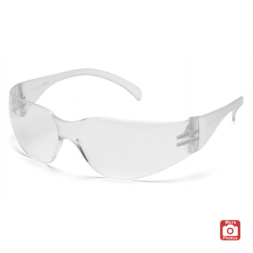 Pyramex Intruder Series Safety Glasses with Clear-Hardcoated Anti-fog Lens and Clear Temples