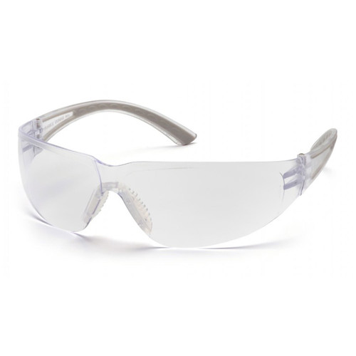 Pyramex Cortez Series Safety Glasses with Clear Lens and Gray Temples