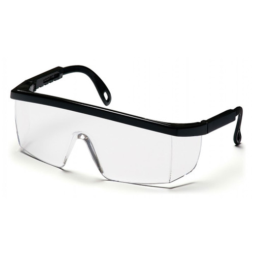 Pyramex Integra Series Safety Glasses with Clear Anti-Fog Lens and Black Frame