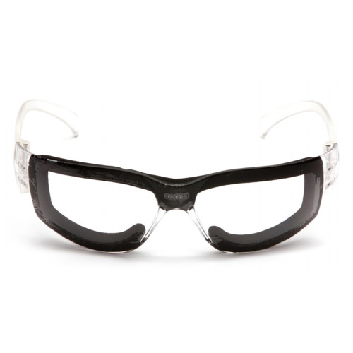 Pyramex Intruder Series Safety Glasses with Hardcoated Anti-fog Lens and Full Foam Padding