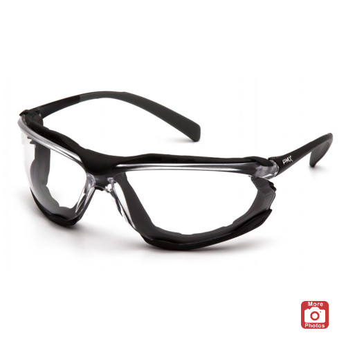 Pyramex Proximity Series Safety Glasses with Clear H2X Anti-Fog Lens and Black Frame