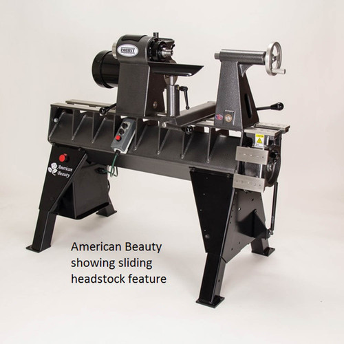 "Robust American Beauty 25"" Woodturning Lathe, Long Bed, 2HP Motor"