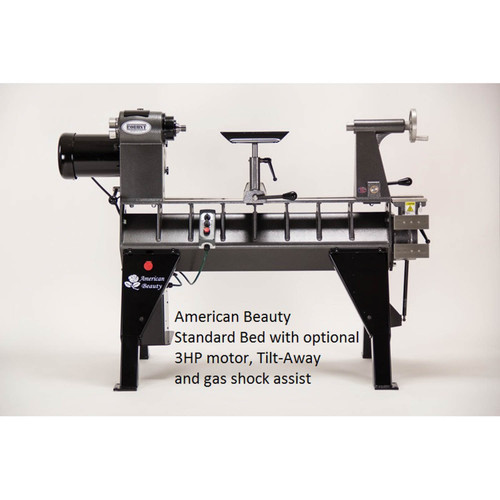"Robust American Beauty 25"" Woodturning Lathe, Standard Bed, 3HP Motor"