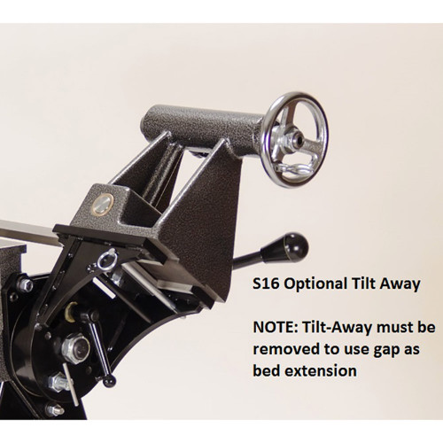 Tilt-Away for the Sweet Sixteen Lathe