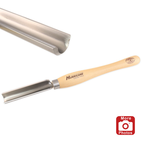 "Hurricane HTT-231W, M2 HSS 1 1/4"" Spindle Roughing Gouge"