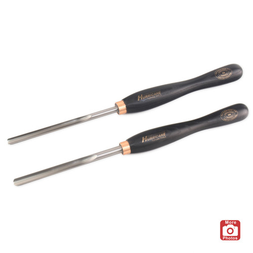"Hurricane M42 Cryo, 2 Piece Spindle Gouge Pro Tool Set (1/2"" and 3/8"" Flute)"