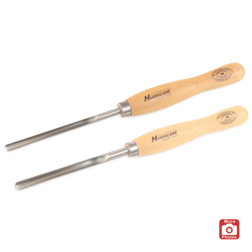 "Hurricane M2 HSS, 2 Piece Spindle Gouge Pro Tool Set (1/2"" and 3/8"" Flute)"