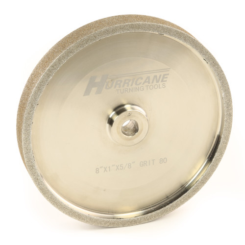 "Hurricane CBN Grinding Wheel, 8"" x 1"" x .625"", 80 Grit"