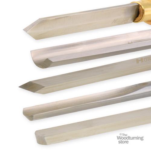 Hurricane Set of 5 Pen Turners Tools, High Speed Steel w Handles