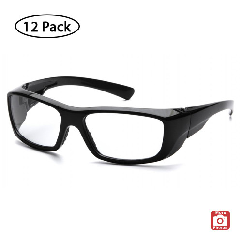 Pyramex Emerge Series Safety Glasses with Clear Lens, 12 Pack