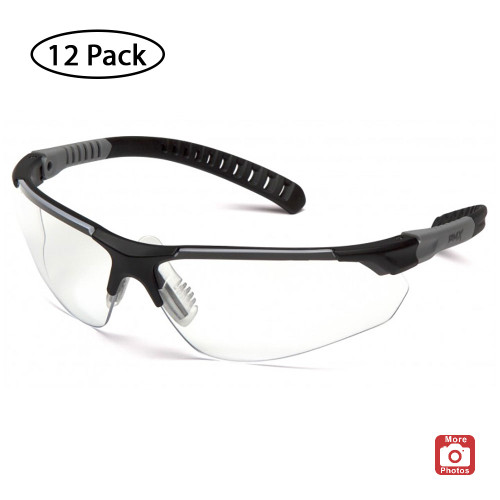 Pyramex Sitecore Series Safety Glasses with H2MAX Anti-Fog Lens, 12 Pack