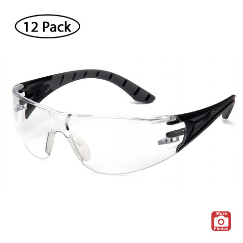 Pyramex Endeavor Plus Series Safety Glasses with H2X Anti-Fog Lens, 12 Pack