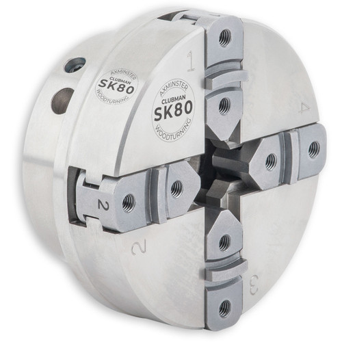 """Axminster, Clubman SK80, Chuck Package with 1"""" x 8 TPI Direct Thread"""