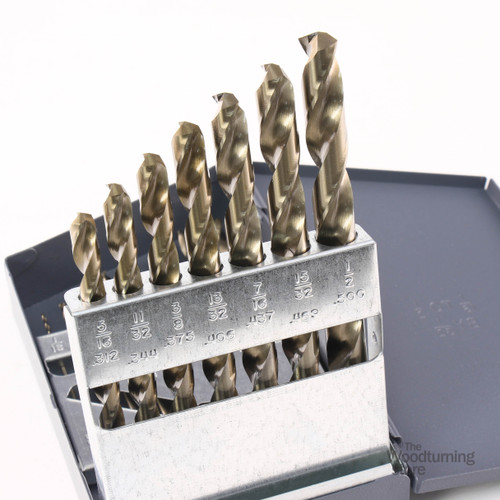 "Cle-Line, M42 Cobalt 15 Piece Drill Bit Set, 1/16"" - 1/2"" x 32nds, 135 Degree Split Point"