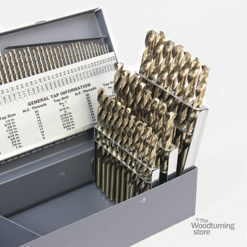 Cle-Line, M42 Cobalt 115 Piece Drill Bit Set, Fractional, Letter and Wire Sizes, 135 Degree Split Point