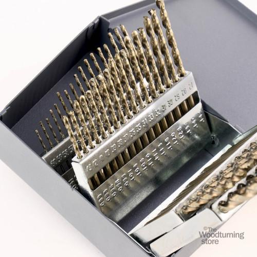 Cle-Line, M42 Cobalt 60 Piece Drill Bit Set, #1 - #60, 135 Degree Split Point