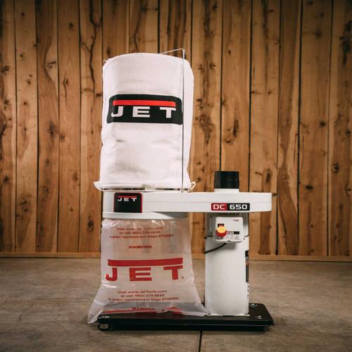 Jet, DC-650 Dust Collector, 1HP 1PH 115/230V, 30-Micron Bag Filter Kit