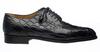Belly Alligator Leather Shoes Men Black Italian Wingtip by Ferrini 3673/133