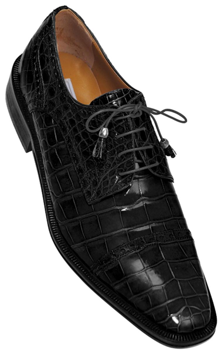 Mens Black Italian Alligator Shoes Exotic Style By Ferrini 216monti