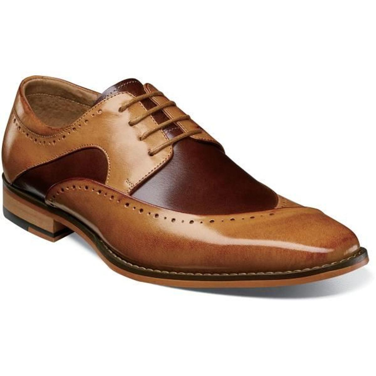Stacy Adams Dress Shoes Tan Burgundy Top 25292-238 IS