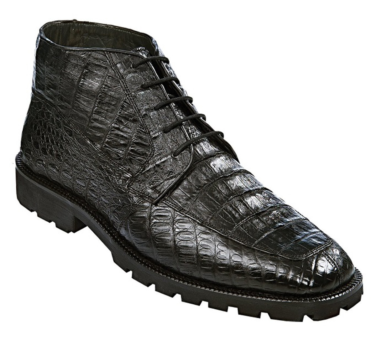 a6931bfea0d Los Altos Mens Black Crocodile Chukka Boot ZA2060205