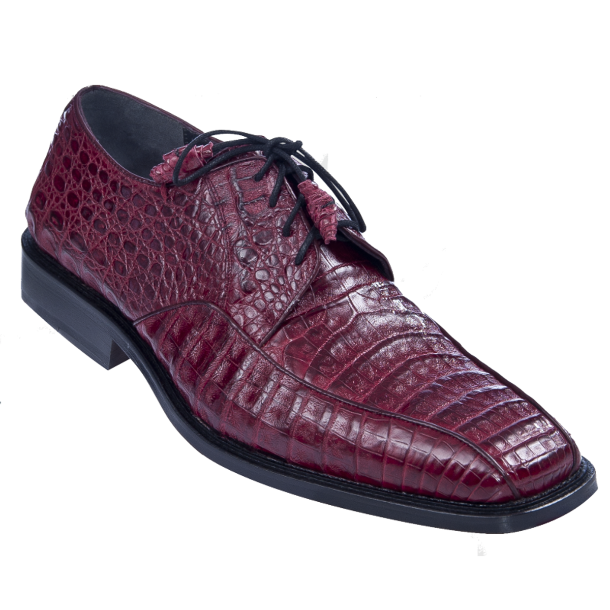 Los Altos Burgundy Crocodile Bike Toe Shoes ZV038206