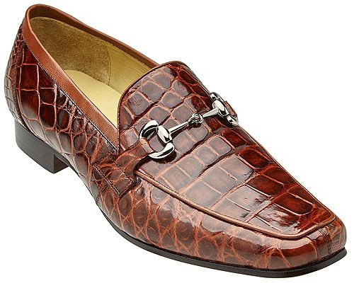 Belvedere Dark Tan Alligator Loafers Gerald
