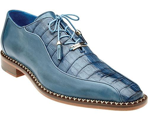 Belvedere Mens Brandy Genuine Crocodile Dress Shoes Gabriele