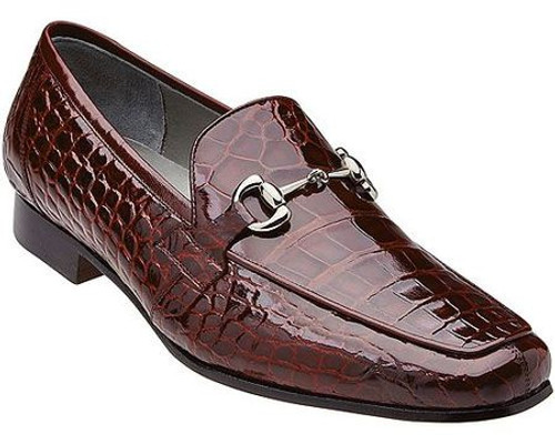 Belvedere Burgundy Alligator Gucci Loafers