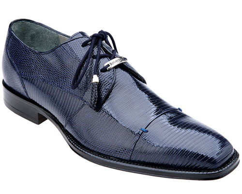 Mens Belvedere Italy Navy Teju Lizard Skin Italian Shoes Karmelo 1497