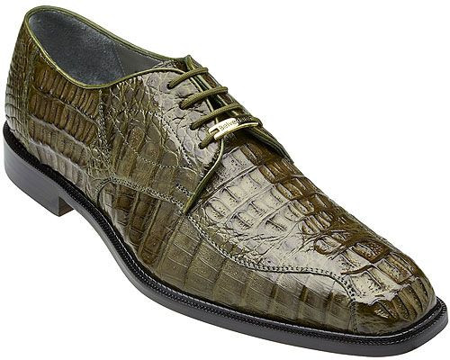 Belvedere Olive Green Crocodile Shoes Chapo