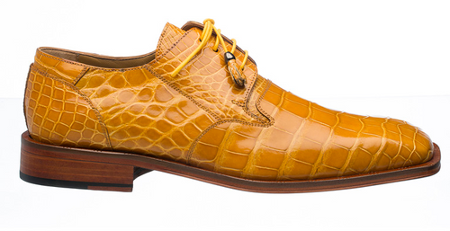 Alligator Shoes Ferrini Men's Tournasol Gold Square Toe 208/51