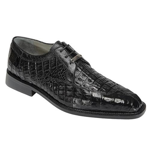 Belvedere Mens Crocodile Shoes Exotic Italian Black Oxford Susa P32