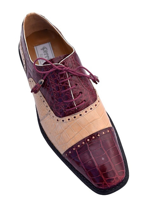 Ferrini burgundy alligator shoes