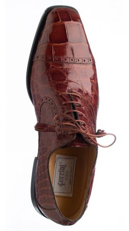 Rust alligator shoes by Ferrini
