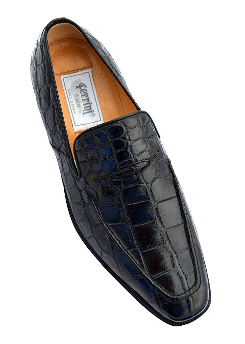 Italian Crocodile loafers by Ferrini