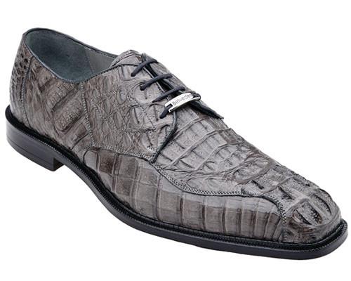 Belvedere Men's Gray Color  Crocodile Shoes Italian Style Chapo