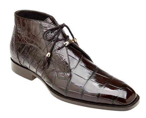 Belvedere Brown Alligator Ankle Boots Stefano