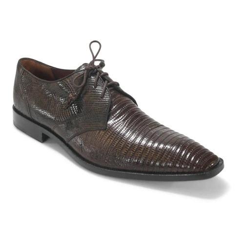 Los Altos Brown Lizard Skin Plain Toe Dress Shoes ZV080707