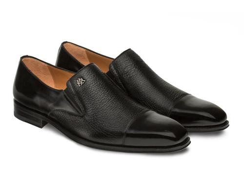 Mezlan Shoes Mens Black Deerskin Loafer Milani