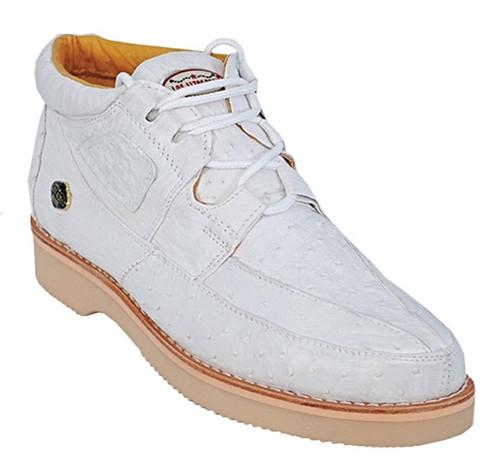 Los Altos All White Ostrich Casual Chukka Boot ZA060328