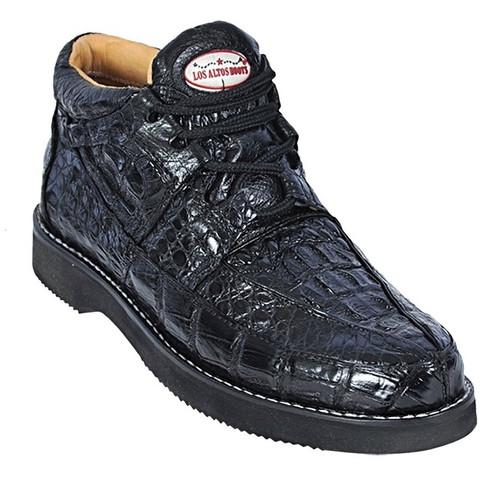 Los Altos Black Bumpy Ostrich Casual Chukka Boot ZA060305